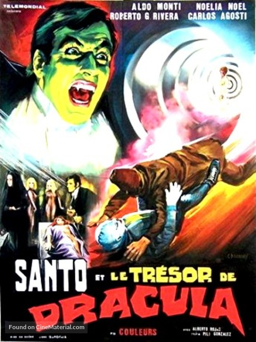 Santo en El tesoro de Drácula - French Movie Poster