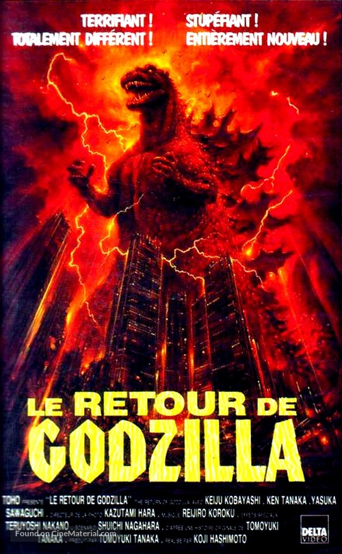 The Return of Godzilla - French VHS cover