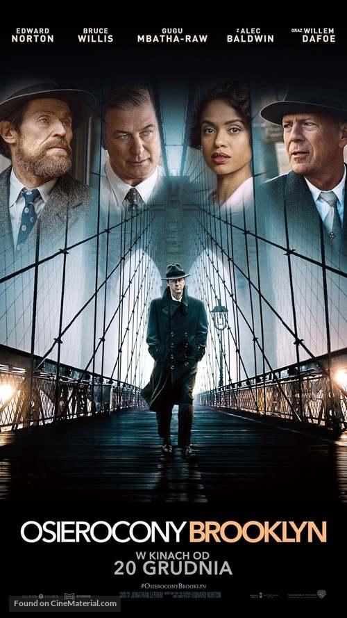 Motherless Brooklyn - Polish Movie Poster