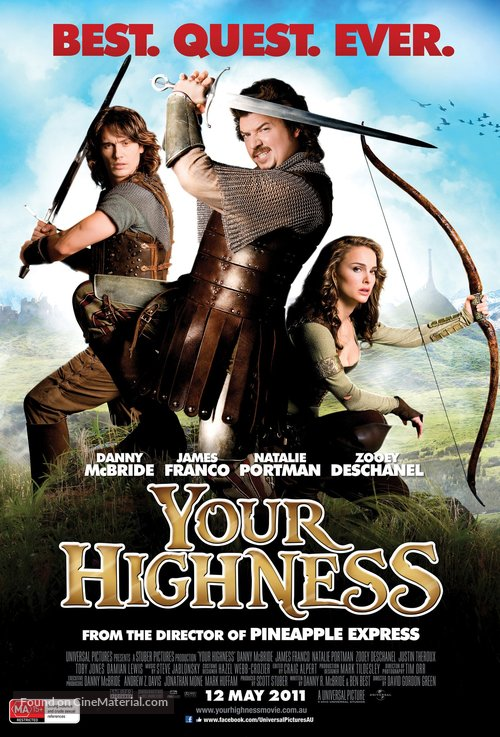 Your Highness Australian Movie Poster