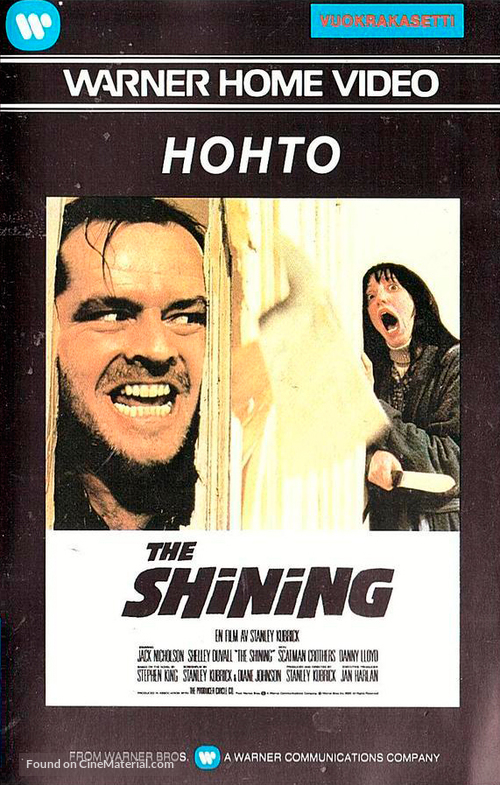 The Shining - Finnish VHS movie cover