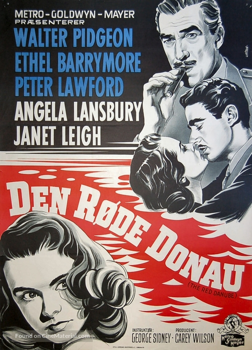 The Red Danube - Danish Movie Poster