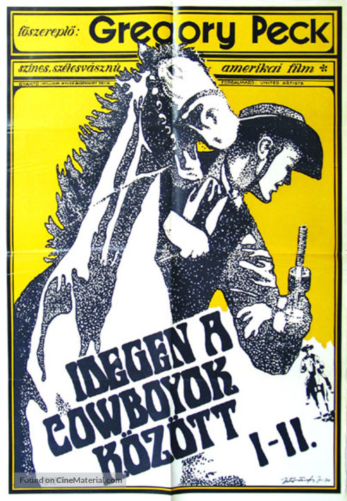 The Big Country - Hungarian Movie Poster