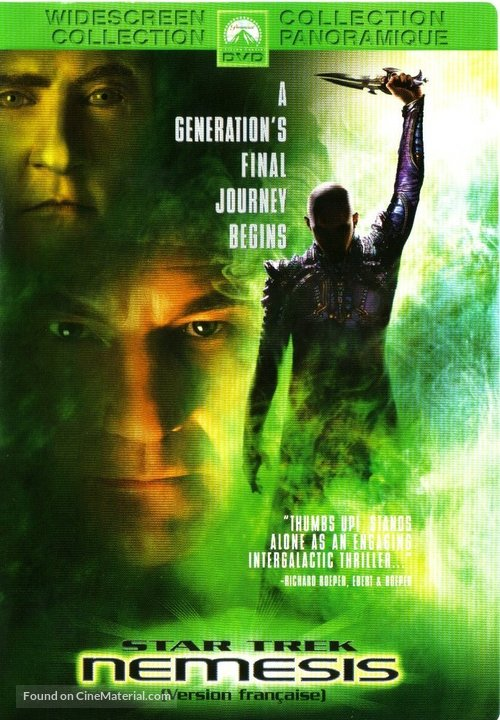 Star Trek: Nemesis - Canadian DVD movie cover
