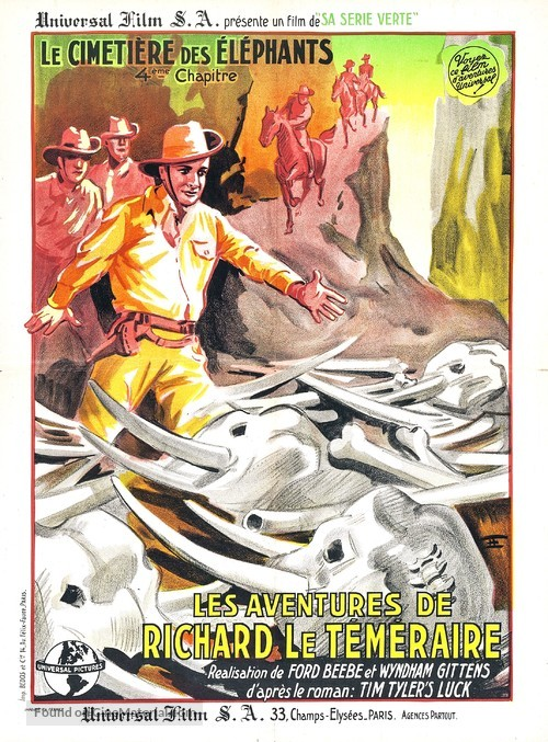 Tim Tyler's Luck - French Movie Poster