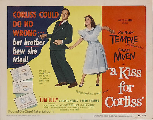 A Kiss for Corliss - Movie Poster