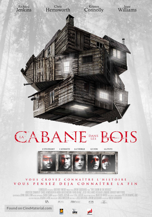 The Cabin in the Woods - Belgian Movie Poster