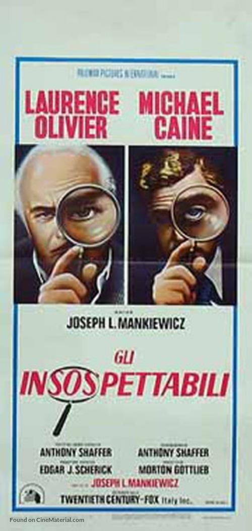 Sleuth - Italian Movie Poster