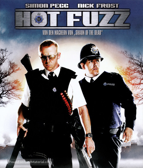 Hot Fuzz - German Blu-Ray cover