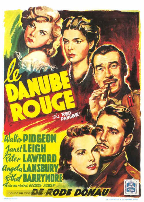 The Red Danube - Belgian Movie Poster