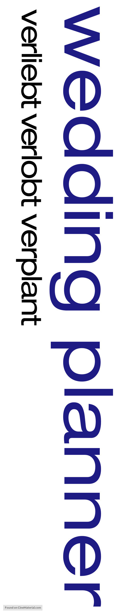 The Wedding Planner - German Logo