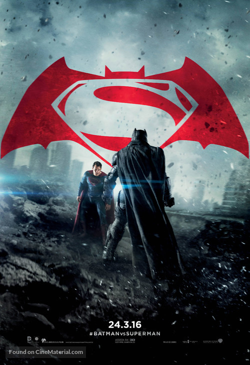 Batman v Superman: Dawn of Justice - Brazilian Movie Poster