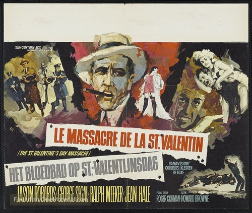 The St. Valentine's Day Massacre - Belgian Movie Poster