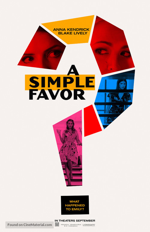 A Simple Favor - Teaser movie poster