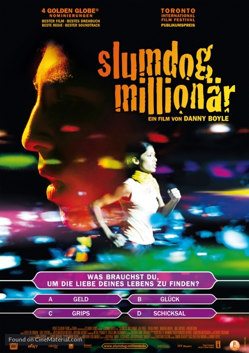 Slumdog Millionaire - German Movie Poster