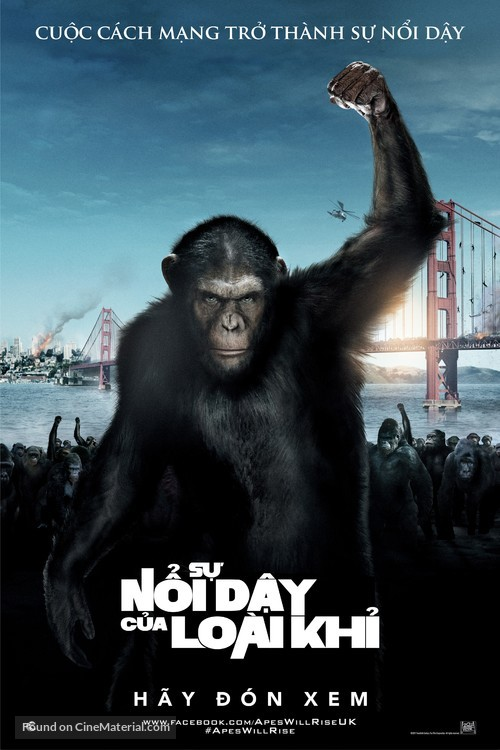 Rise of the Planet of the Apes - Vietnamese Movie Poster