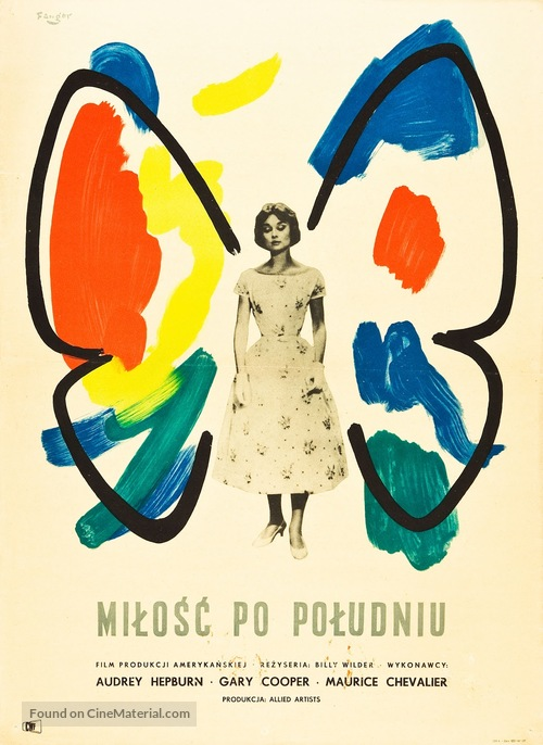 Love in the Afternoon - Polish Movie Poster