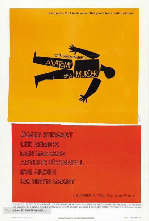 Anatomy of a Murder - Theatrical movie poster