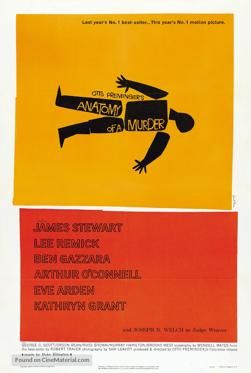 Anatomy of a Murder - Theatrical poster