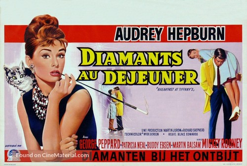 Breakfast at Tiffany's - Belgian Movie Poster