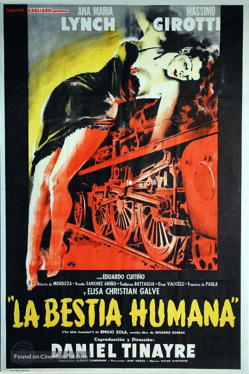 La bestia humana - Argentinian Movie Poster