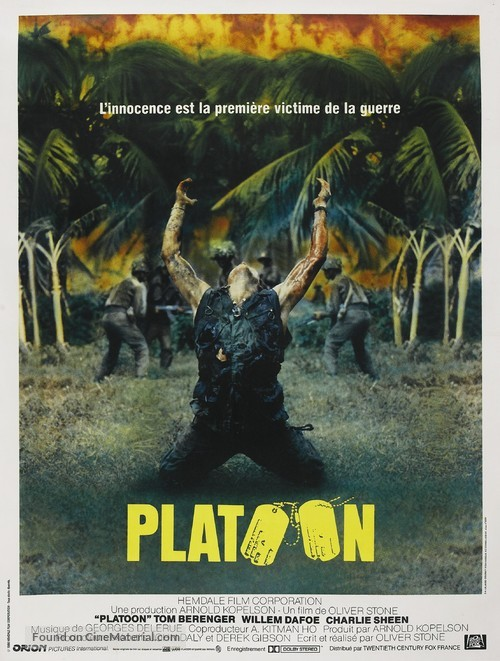 Platoon - French Movie Poster