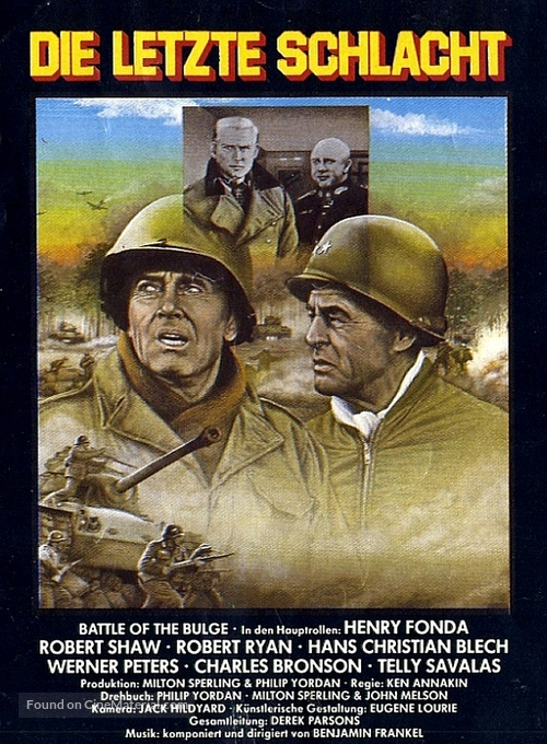 Battle of the Bulge - German Movie Cover