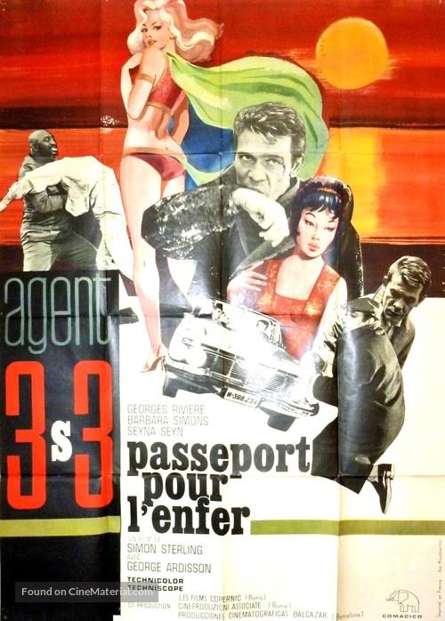Agente 3S3: Passaporto per l'inferno - French Movie Poster