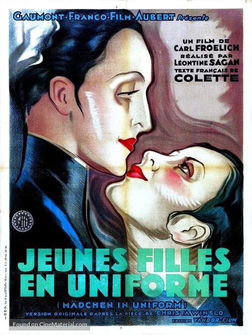 Mädchen in Uniform - French Movie Poster