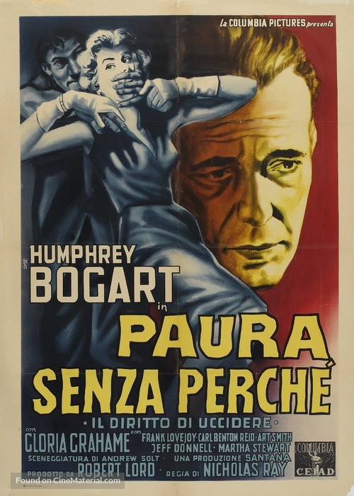 In a Lonely Place - Italian Movie Poster