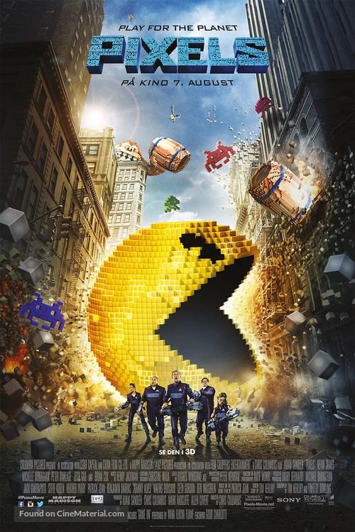 Pixels - Norwegian Movie Poster
