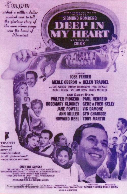 deep in my heart movie cast 1954