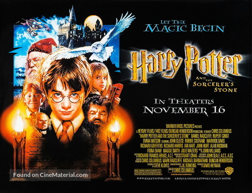 Harry Potter and the Sorcerer's Stone - British Movie Poster
