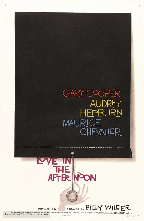 Love in the Afternoon - Movie Poster