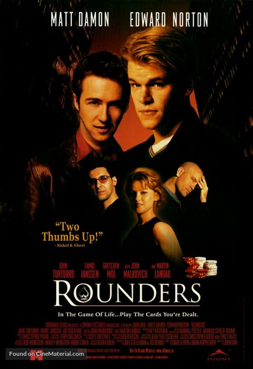 Rounders - Canadian Movie Poster