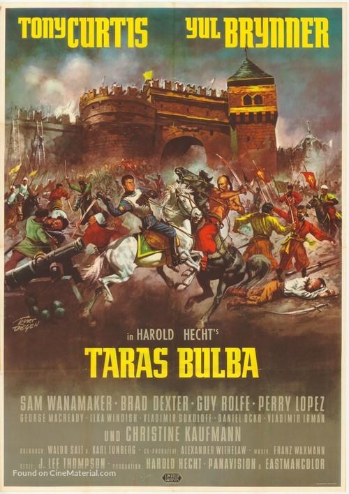 Taras Bulba - German Movie Poster