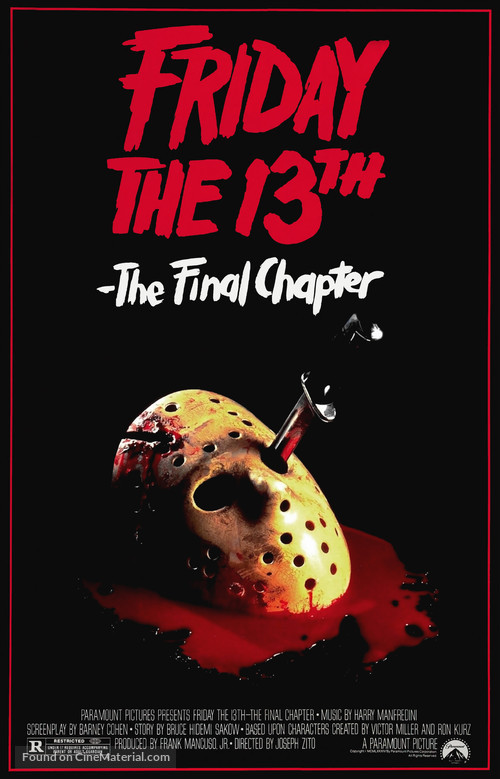 Friday the 13th: The Final Chapter - Movie Poster