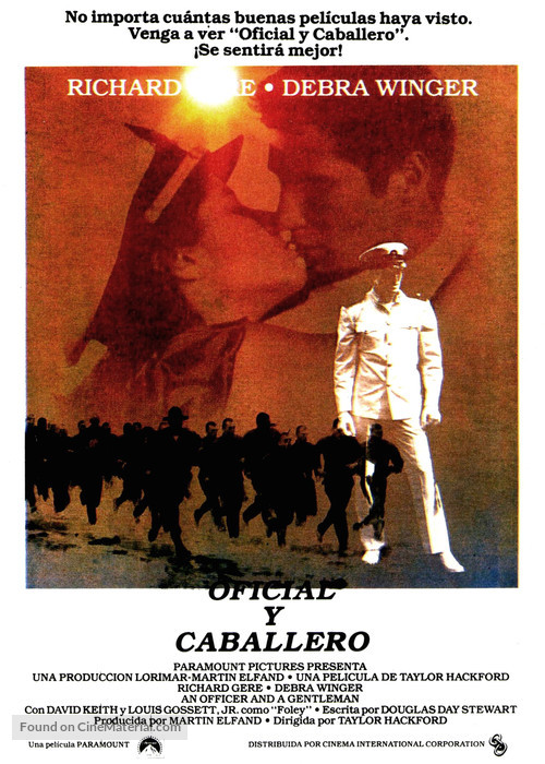 An Officer and a Gentleman - Spanish Movie Poster