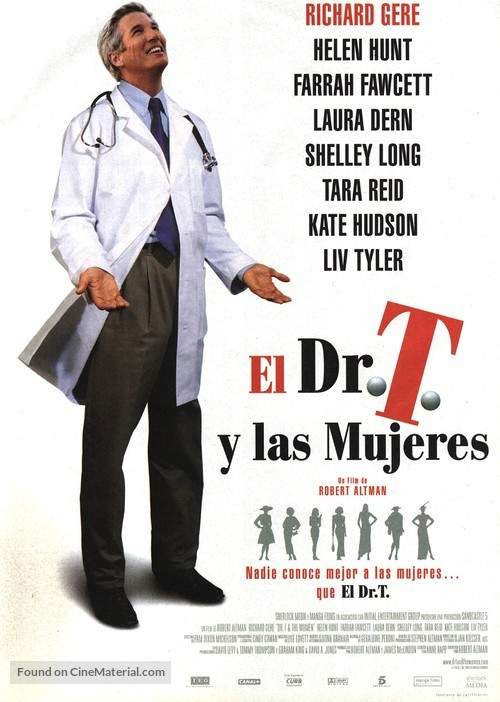 Dr. T & the Women - Spanish Movie Poster