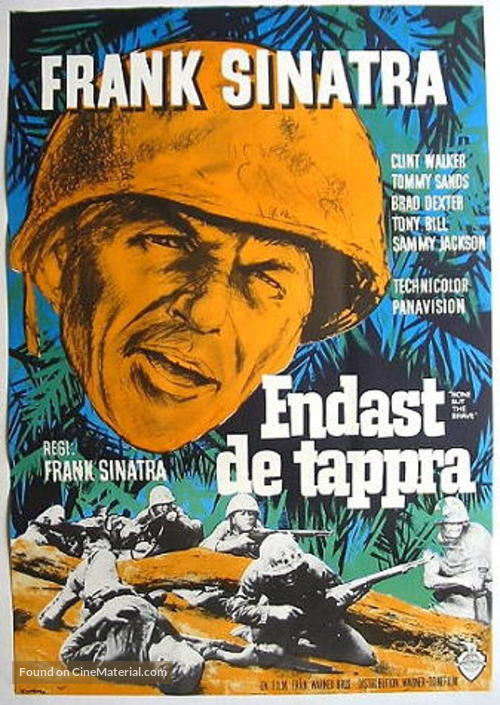 None But the Brave - Swedish Movie Poster