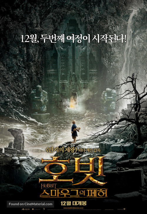 The Hobbit: The Desolation of Smaug - South Korean Movie Poster