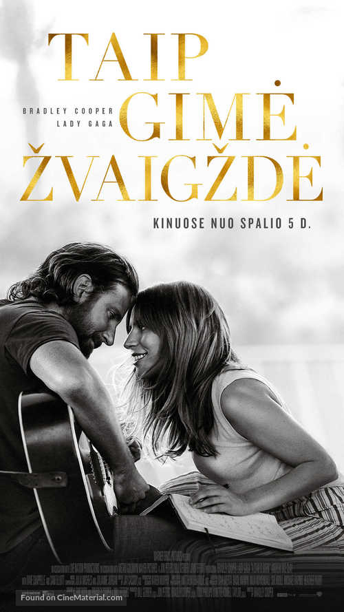 A Star Is Born - Lithuanian Movie Poster
