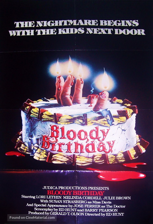 Bloody Birthday - Movie Poster