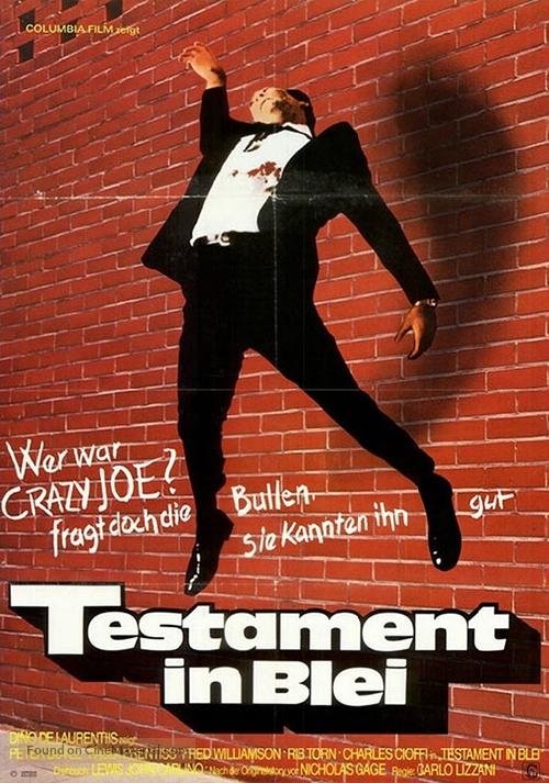 Crazy Joe - German Movie Poster