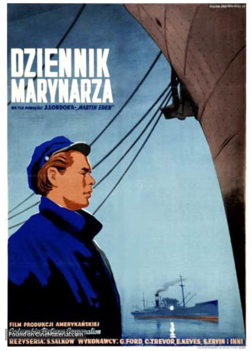 The Adventures of Martin Eden - Polish Movie Poster