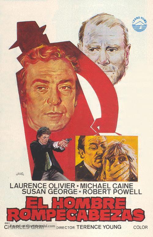 The Jigsaw Man - Spanish Movie Poster