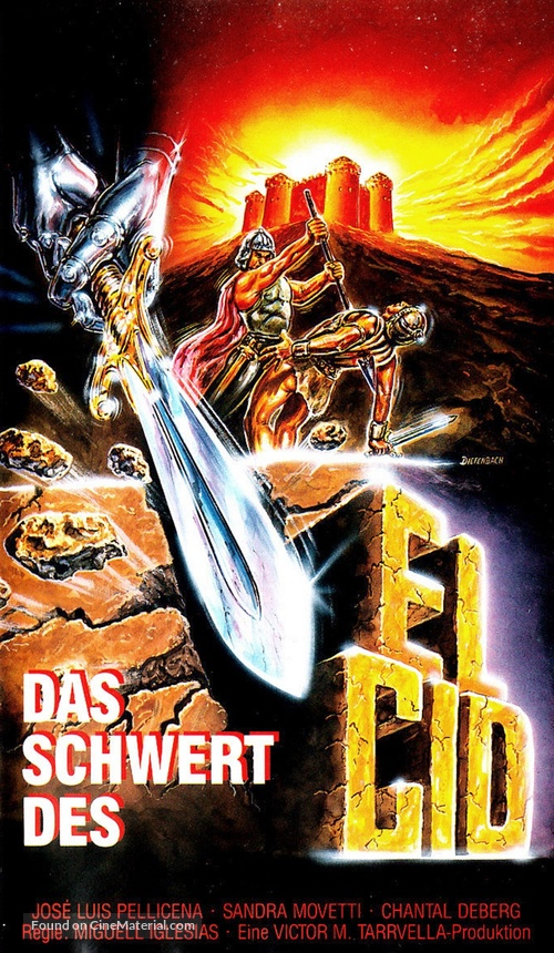 La spada del Cid - German VHS movie cover