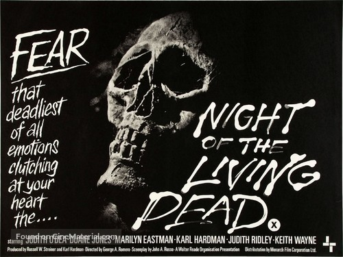 Night of the Living Dead - British Movie Poster