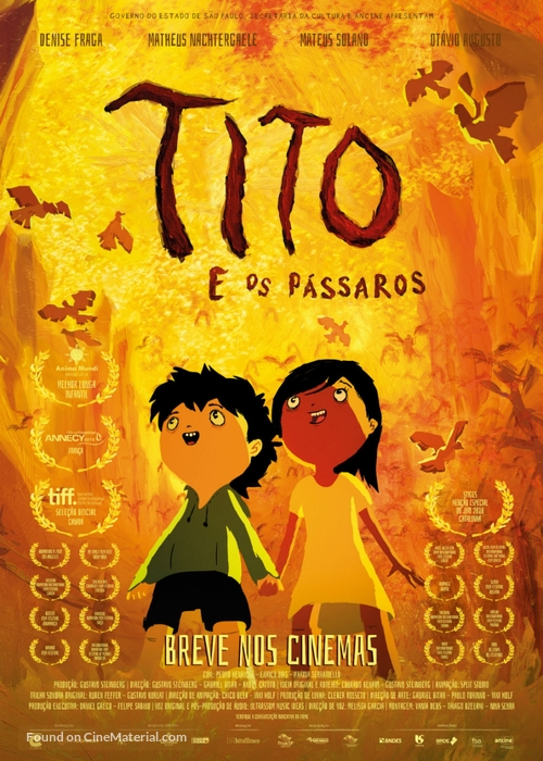 Tito e os Pássaros - Brazilian Movie Poster