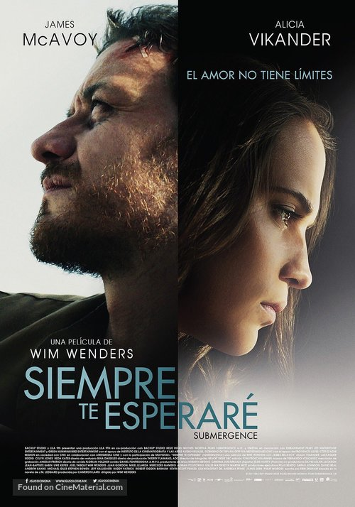 Submergence - Mexican Movie Poster